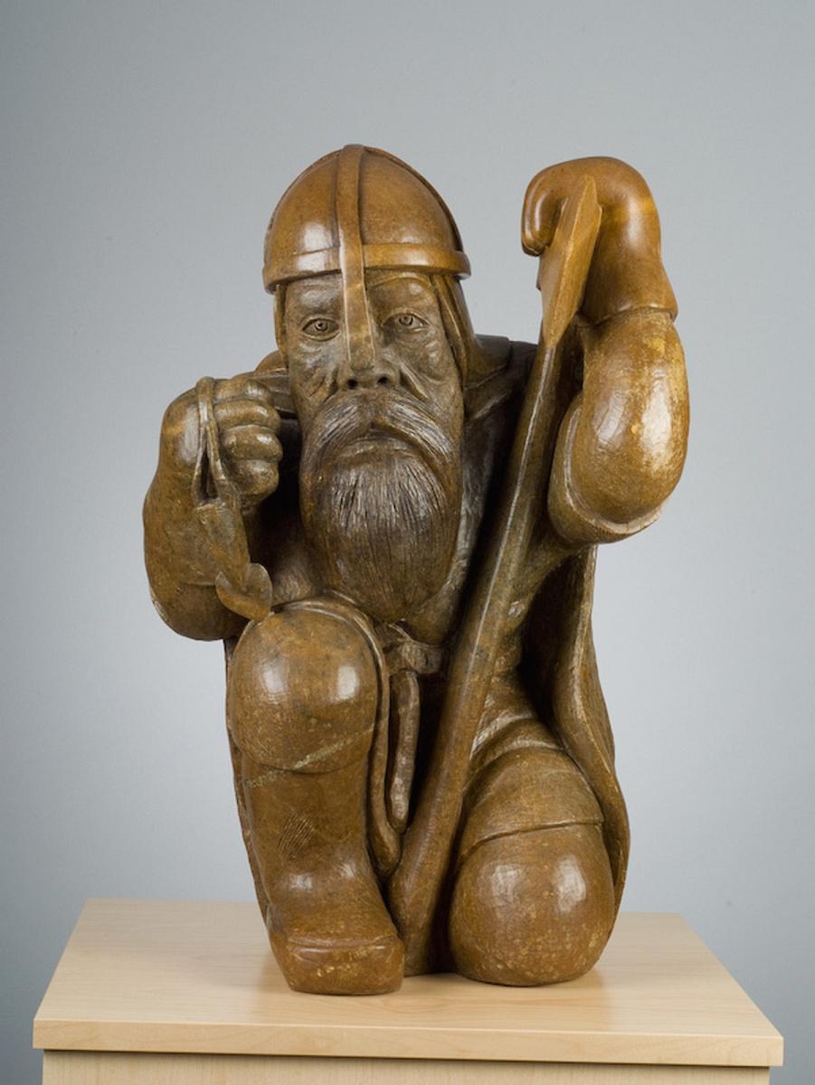 Viking man art sculpture