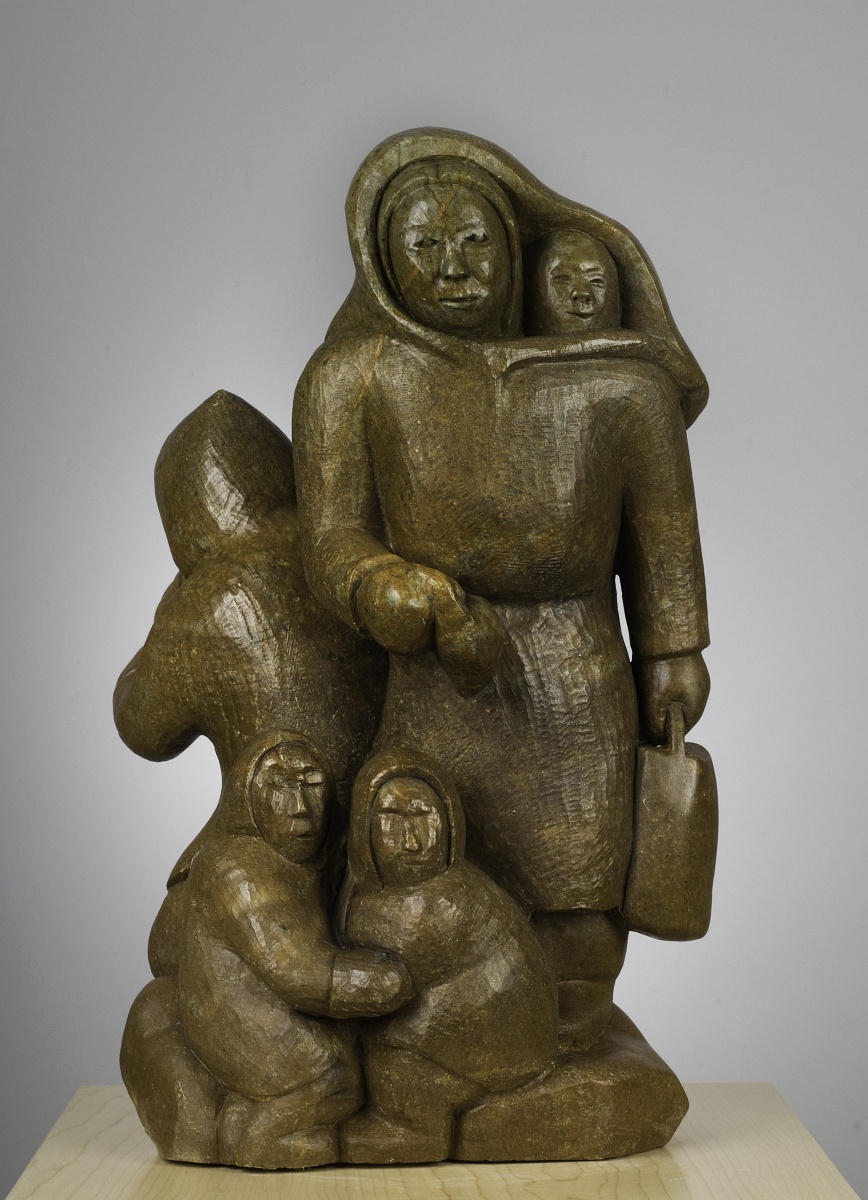 inuit viking sculpture