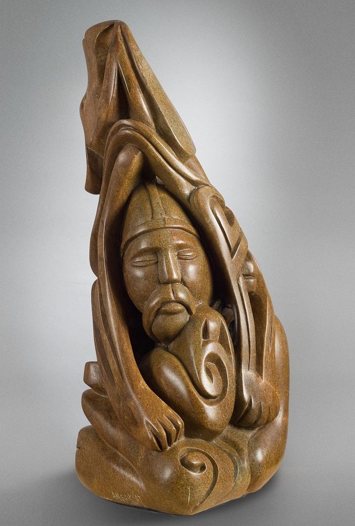 shaman bear inuit sculpture