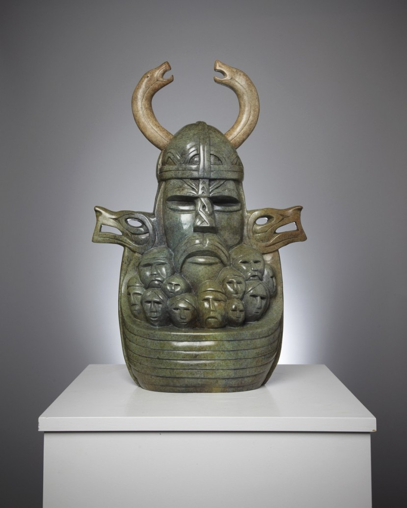 Odin Bronze sculpture