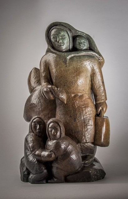 Abraham-inuit-sculpture-The-End-Bronze(2)