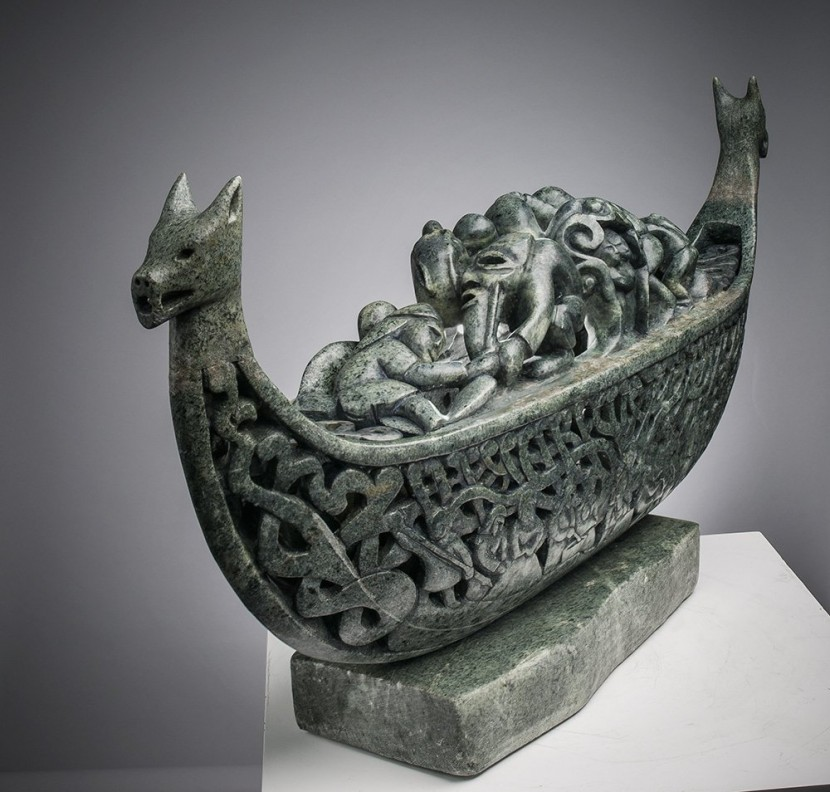 Vikings ship sculpture
