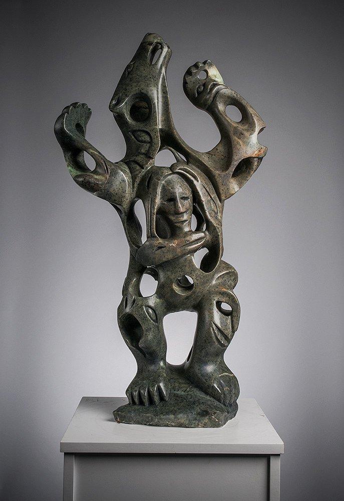 inuit bear inuit sculpture by artist abraham anghik ruben